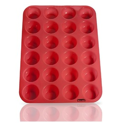 Silicone Mini Muffin Pan, 24 Cup Premium Cupcakes Pan Shapes