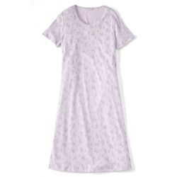 Women's Petite Short Sleeve Midcalf Nightgown