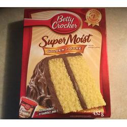 Betty Crocker super moist golden cake mix