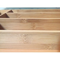 KD Organizers 5-Slot Bamboo Cutlery Drawer Organizer