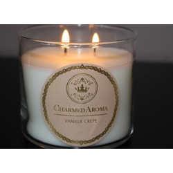 Charmed Aroma Vanilla Crepe Candle