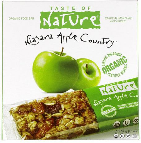 Taste of nature organic food bar niagara apple countr for Organic food bar