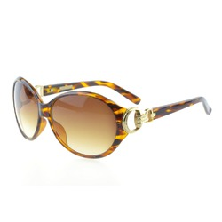 Foster Grant Womens Round Sunglasses Tortoise Frame, Gold Gradient Brown Lense