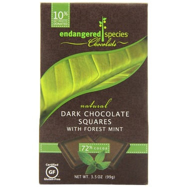 Endangered Species Rainforest, Natural Dark Chocolate (72%) with Forest Mint
