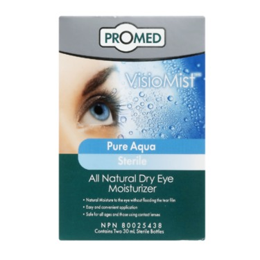 Promed Visiomist Pure Aqua Sterile all Natural Dry Eye Moisture Spray