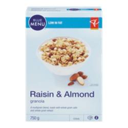 Blue Menu Raisin & Almond granola cereal