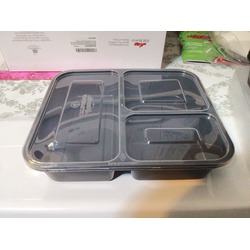 California Home 3 Compartment Food Containers