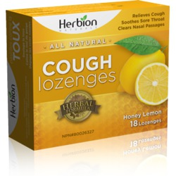 HERBION NATURALS Cough Lozenges Honey Lemon
