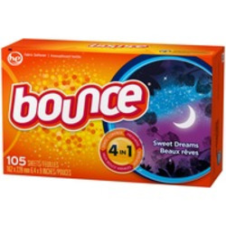 Bounce fabric softener sheets in sweet dreams