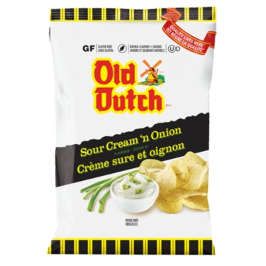 Old Dutch Sour Cream And Onion Potato Chips