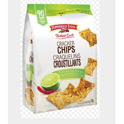 Pepperidge farm baked cracker chips zesty chilies and lime