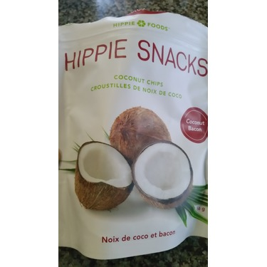 Hippie snacks coconut chips bacon flavours