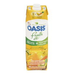 Oasis Fruits etc. Deliciously Yellow Juice