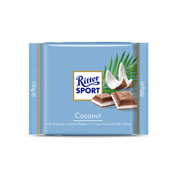 Ritter Sport Coconut Milk Chocolate Bar
