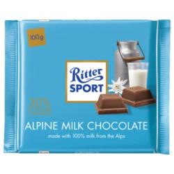 Ritter Sport Alpine Milk Chocolate Bar