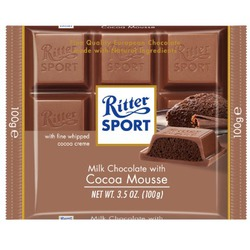 Ritter Sport Milk Chocolate With Cocoa Mousse