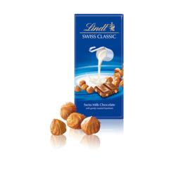 Lindt Swiss Classic Milk Chocolate Bar With Gently Roasted Hazelnuts
