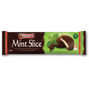Arnott's Mint Slices Chocolate Biscuits