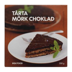 Ikea TÅRTA MÖRK CHOKLAD Almond Cake with Dark Chocolate