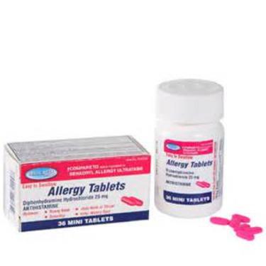 Assured Allergy Antihistamine Tablets (Diphenhydramine HCL 25mg)
