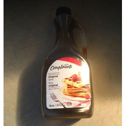 Compliments original syrup
