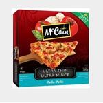 McCain ultra thin pollo pizza