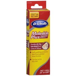 Dr Scholl's Moleskin Plus Padding Roll