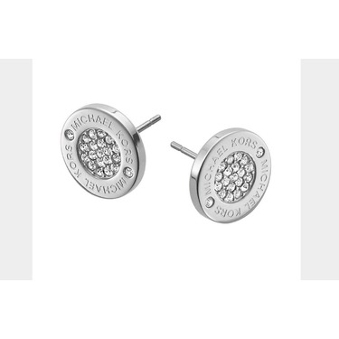 Michael kors logo pave stud earrings