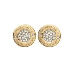 Michael kors logo pave stud earrings