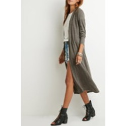 Longlined Heathered Cardigan- Forever 21