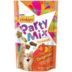 Purina Friskies Party Mix Cat Treats Crunch Chicken, Liver & Turkey Flavours