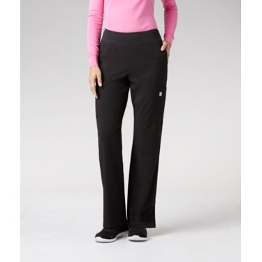 Health Pro Stretch Extensible Scrub Pants in Black