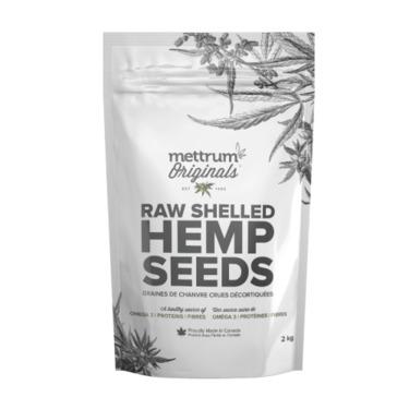 Raw Shelled Hemp Seeds By Mettrum Originals
