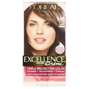 L'Oreal Paris Excellence Creme Hair Color, Mocha Ash Brown 5AB