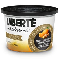 Liberté Méditerranée orange et gingembre