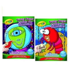 Crayola funny faces colouring and sticker book