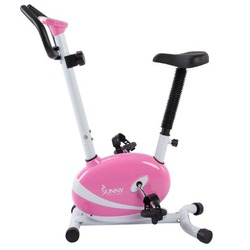 Suny's Health and Fitness P8200 Magnetic Upright Bike-Pink