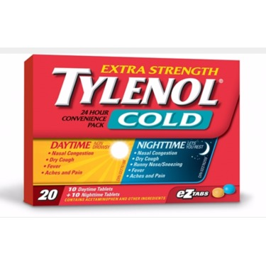 Extra Strength Tylenol Cold Day/Night