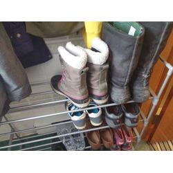 Songmics 4-Tier Shoe Rack Shoe Tower
