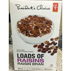Presidents Choice Loads of Raisins Raisin Bran