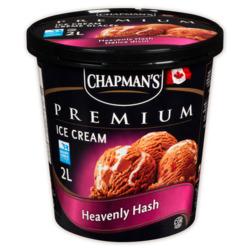 Chapmans premium heavenly hash ice cream