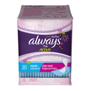 Always Thin Active Dailies, Fresh Scented