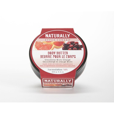 Upper Canada Naturally Cranberry Moro Orange Body Butter
