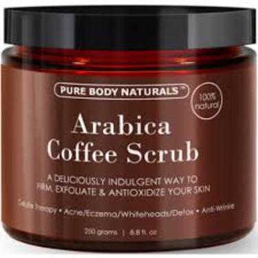 Pure Body Naturals 100% Natural Arabica Coffee Scrub