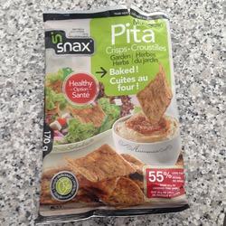 In Snax Pita Crips- Garden Herb