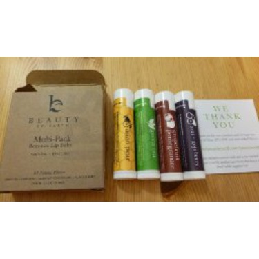 Beauty by Earth Lip Balm Exotic Flavors 4 Pack