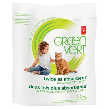 PC GREEN Twice As Absorbent Clumping Cat Litter