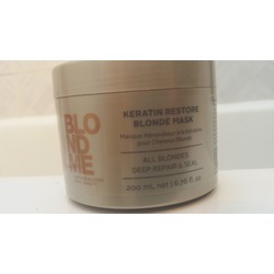 schwarzkopf keratin restore blonde mask