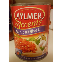 Aylmer Accents Diced Tomatoes- Garlic & Olive Oil