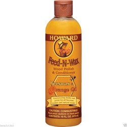 Howard Feed-N-Wax Beez-Wax and Orange oil furniture polish
